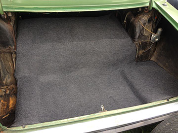 NEW Moulded P76 Boot Carpet Charcoal Loop